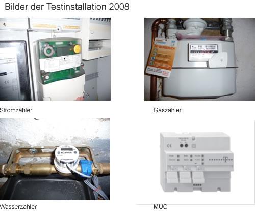 Bilder der Testinstallation 2008