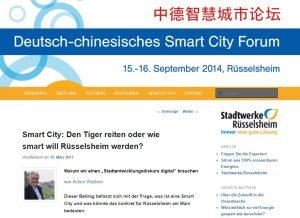 Smart City: Den Tiger reiten oder wie smart will Rüsselsheim werden?
